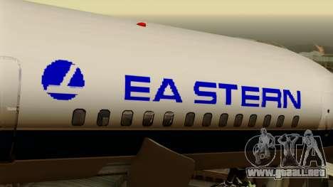 Boeing 757-200 Eastern Air Lines para GTA San Andreas vista hacia atrás