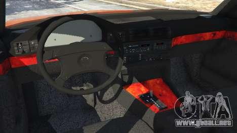 GTA 5 BMW 535i (E34) v2.0 vista lateral trasera derecha