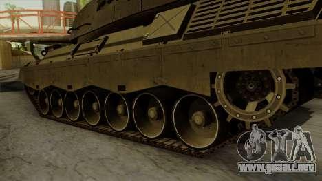 Leopard 1A5 para GTA San Andreas vista posterior izquierda