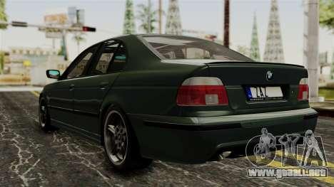 BMW 530D E39 1999 Mtech para GTA San Andreas left