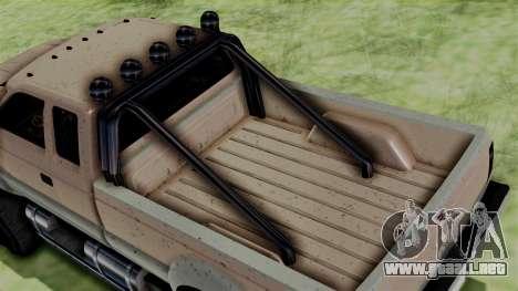 GTA 5 Vapid Sandking para GTA San Andreas vista posterior izquierda