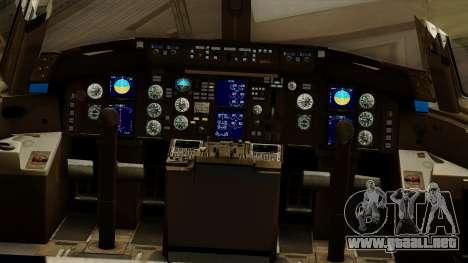 Boeing 757-200 Eastern Air Lines para visión interna GTA San Andreas