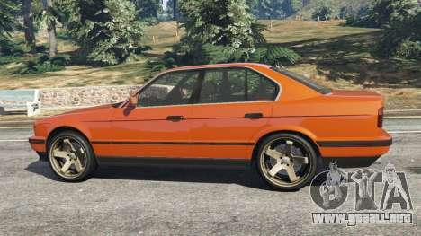 GTA 5 BMW 535i (E34) v2.0 vista lateral izquierda