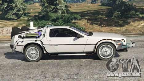 GTA 5 DeLorean DMC-12 Back To The Future v0.3 vista lateral izquierda