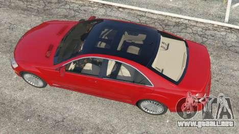 GTA 5 Mercedes-Benz S550 W221 v0.4.1 [Alpha] vista trasera