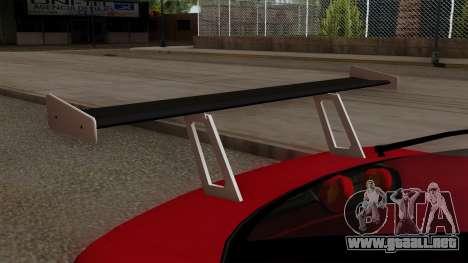 Nissan 180SX Street Golden Rims para GTA San Andreas vista hacia atrás