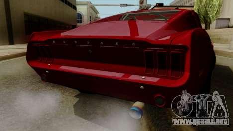 Ford Mustang Fastback para visión interna GTA San Andreas