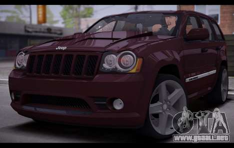 Jeep Grand Cherokee SRT8 2008 para GTA San Andreas