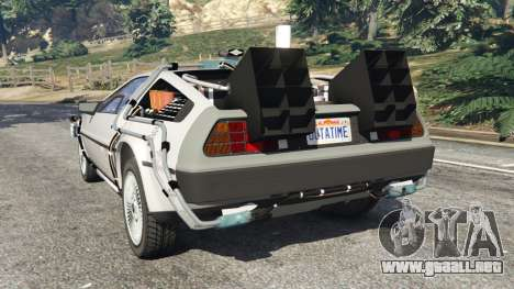 GTA 5 DeLorean DMC-12 Back To The Future v0.3 vista lateral izquierda trasera