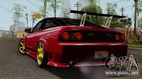 Nissan 180SX Street Golden Rims para GTA San Andreas left