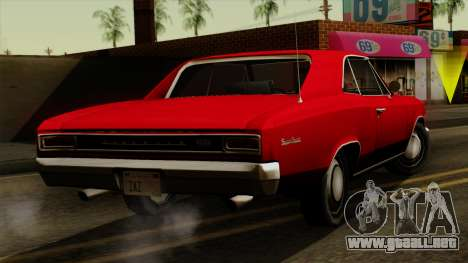 Chevrolet Chevelle SS396 1966 para GTA San Andreas left