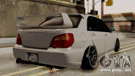 Subaru Impreza WRX STI HQ para GTA San Andreas left