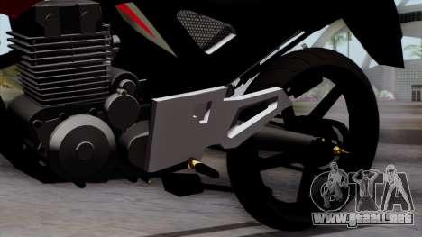 Honda Twister 2014 para la visión correcta GTA San Andreas