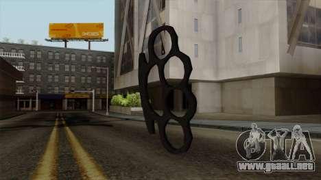 Nueva nudillos de bronce para GTA San Andreas