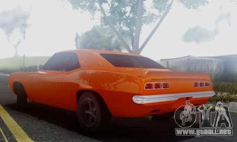 Chevy Camaro 69 para GTA San Andreas vista posterior izquierda