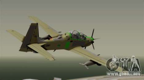 EMB-314 Super Tucano Factory USA para GTA San Andreas left