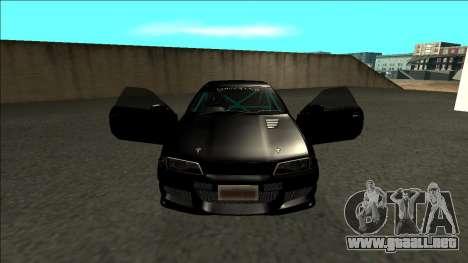 Nissan Skyline R32 Drift Monster Energy para visión interna GTA San Andreas