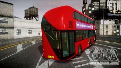 Wrightbus New Routemaster Abellio London para GTA 4 Vista posterior izquierda