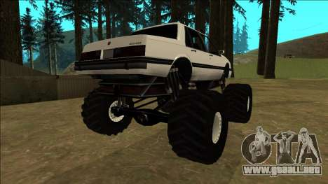 Willard Monster para GTA San Andreas vista posterior izquierda