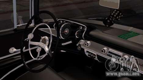 Chevrolet Bel Air Sport Coupe (2454) 1957 IVF para la visión correcta GTA San Andreas