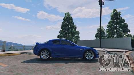 GTA 5 Mazda RX-8 R3 v0.1 vista lateral izquierda