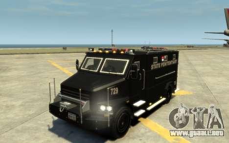 International 4000-Series SWAT Van para GTA 4 vista superior