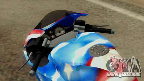 Bati America Motorcycle para GTA San Andreas vista hacia atrás