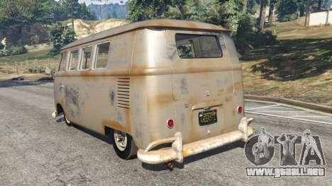 GTA 5 Volkswagen Transporter 1960 rusty [Beta] vista lateral izquierda trasera