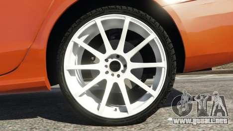GTA 5 Audi S4 vista lateral trasera derecha