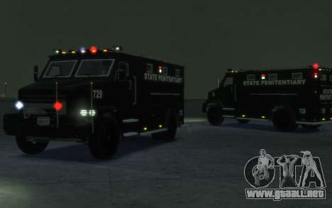 International 4000-Series SWAT Van para GTA 4 left