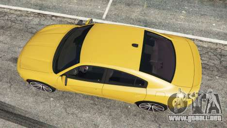 GTA 5 Dodge Charger RT 2015 v1.3 vista trasera