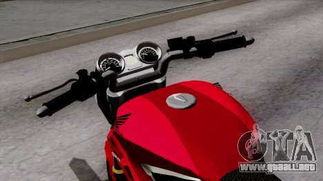 Honda Twister 2014 para GTA San Andreas vista hacia atrás
