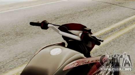 Honda NX400 Falcon para GTA San Andreas vista hacia atrás