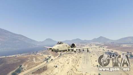 GTA 5 A-10A Thunderbolt II 1.1 séptima captura de pantalla