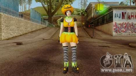 Dead or Alive 5 Mila Halloween para GTA San Andreas segunda pantalla