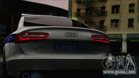 Audi A6 DPS para la visión correcta GTA San Andreas