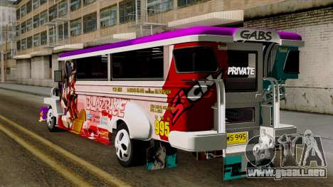 Znranomics - Costum Jeepney (Gabshop) para GTA San Andreas left