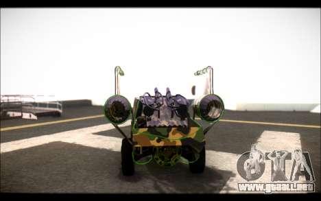 Camo Space Docker para GTA San Andreas vista posterior izquierda