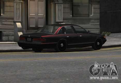 Prototype Crown 1997 Civilian para GTA 4 left