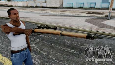 Lee-Enfield No.4 Scope from Battlefield 1942 para GTA San Andreas tercera pantalla