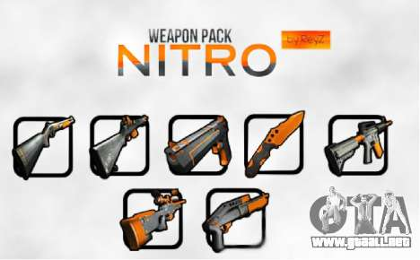 Nitro Weapon Pack para GTA San Andreas