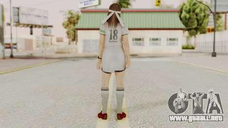 DOA 5 Hitomi Soccer para GTA San Andreas tercera pantalla
