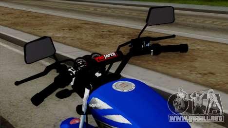 Bera Socialista 2014 para GTA San Andreas vista hacia atrás