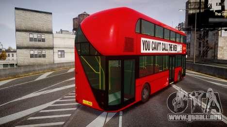 Wrightbus New Routemaster Go Ahead London para GTA 4 Vista posterior izquierda