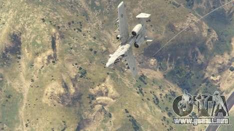 GTA 5 A-10A Thunderbolt II 1.1 octavo captura de pantalla