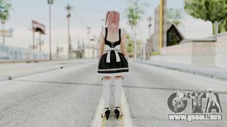 DOA 5 Honoka Maid para GTA San Andreas tercera pantalla