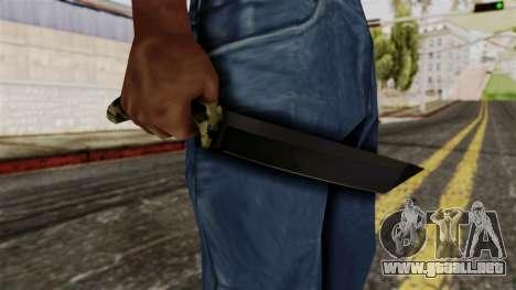 Nuevo camuflaje cuchillo para GTA San Andreas tercera pantalla