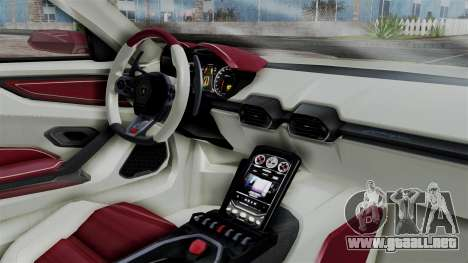 Lamborghini Asterion 2015 Concept para la visión correcta GTA San Andreas
