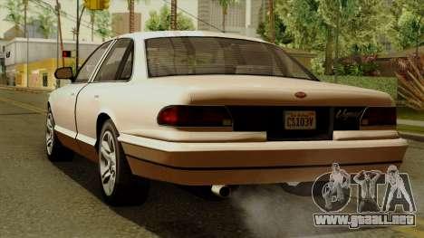 GTA 5 Vapid Stanier I para GTA San Andreas left