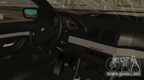 BMW 530D E39 1999 Mtech para la visión correcta GTA San Andreas